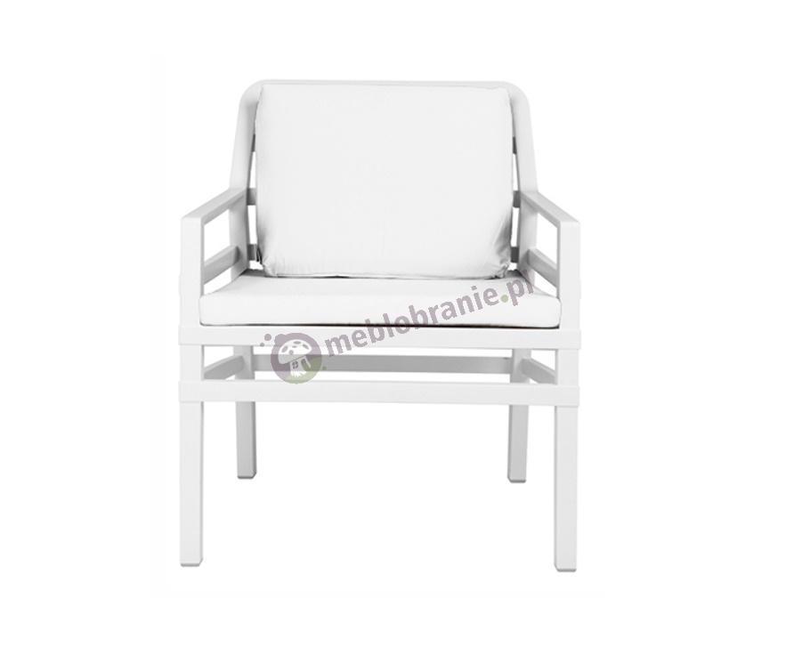 Nardi fotel ogrodowy z poduszkami Aria Fit Bianco/Bianco