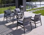 Nardi ogrodowy fotel z poduszkami Aria Fit Antracite/Caffe