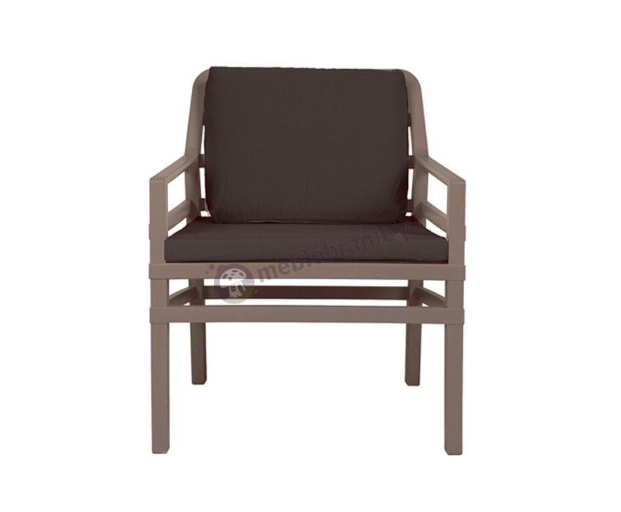 Nardi fotel z poduszkami do ogrodu Aria Fit Tortora/Caffe