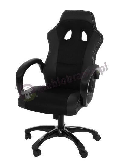 Actona Race czarny obrotowy fotel dla gracza