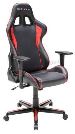 Skórzany fotel do komputera DXRacer FH08/NR czerwony
