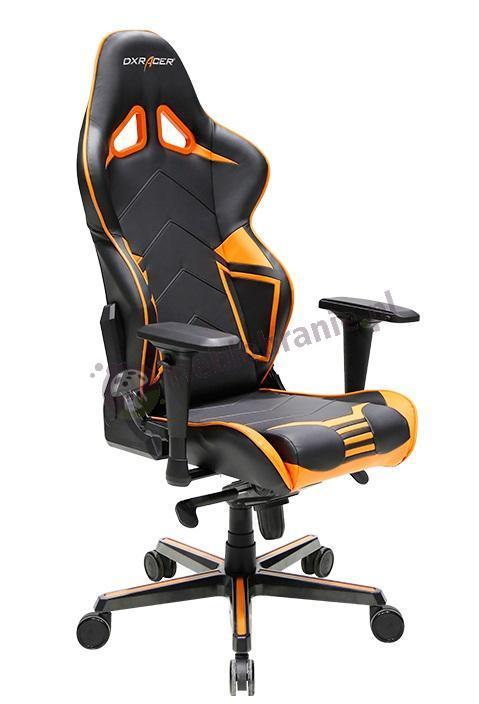 Fotel skórzany do komputera DXRacer RV131/NO pomarańczowy