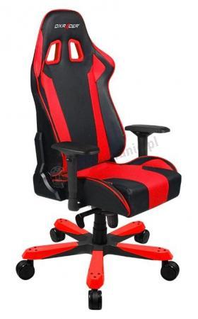 Kubełkowy fotel obrotowy dla graczy KS06/NR DXRacer czerwony