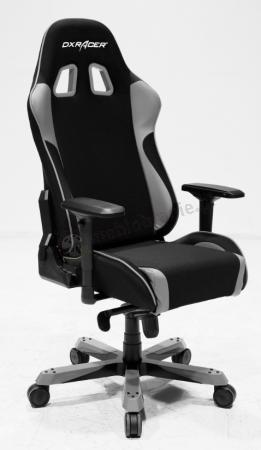 Fotel kubełkowy obrotowy DXRAcer KS11/NG szary
