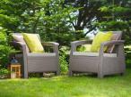 Fotele Corfu Duo w ogrodzie
