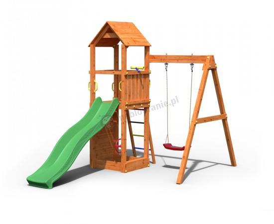 Plac zabaw z drewna do ogrodu Fungoo Flippi