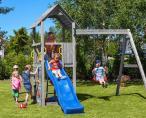 Plac zabaw dla dzieci z malowanego drewna Fungoo Carol 2 G