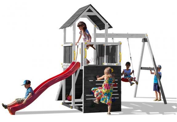 Plac zabaw z drewna dla dzieci ze zjeżdżalnią Fungoo Carol 3 GW