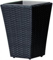 Doniczka technorattanowa 30 cm czarna