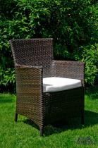 Fotel technorattan Gustoso brązowy