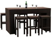 Zestaw mebli stołowych GENIALE brązowy