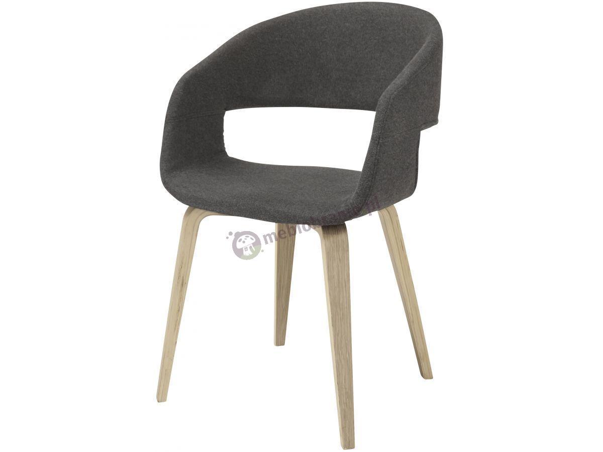 Interstil Nova ciemnoszare krzesło na drewnianych nogach