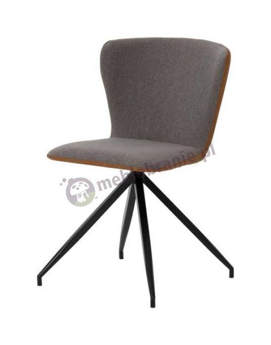 Interstil Viggo 70 szare krzesło na metalowych nogach