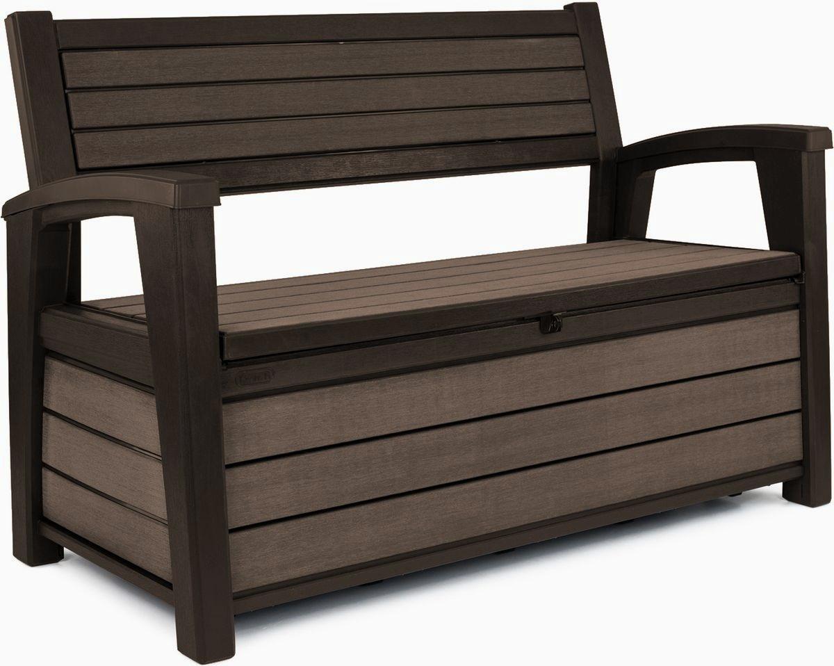 ławka Ze Skrzynią Keter Hudson Storage Bench 227l Brązowy
