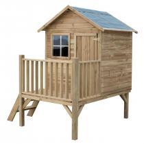 Drewniany domek ogrodowy na platformie Tomek