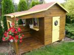 Domek drewniany do zabawy dla dzieci Ela