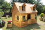 Stylowy drewniany domek dla dzieci Maria