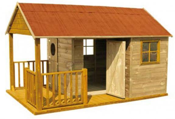 Domek do ogrodu dla dzieci z tarasem Szymon