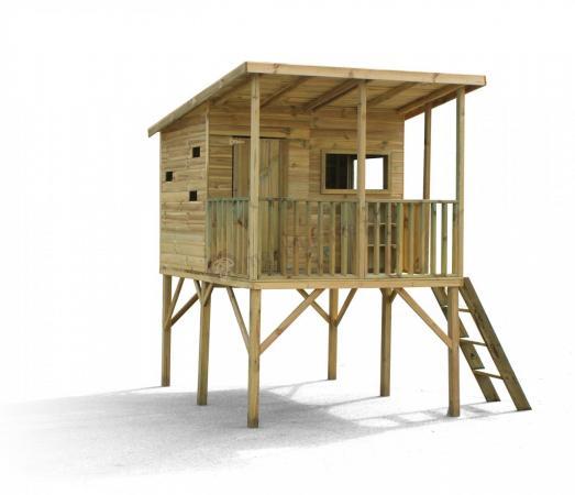 Domek drewniany dla dzieci na platformie Robinson