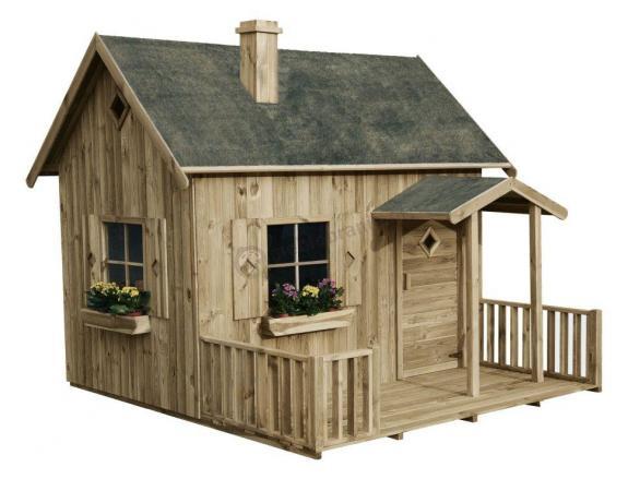 Drewniany domek ogrodowy dla dzieci Maja