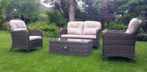 Meble ogrodowe stołowe z technorattanu Ares