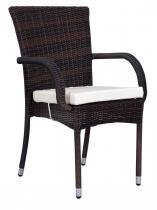 OUTLET - krzywe nogi - Krzesło ogrodowe z technorattanu T Brown Elite