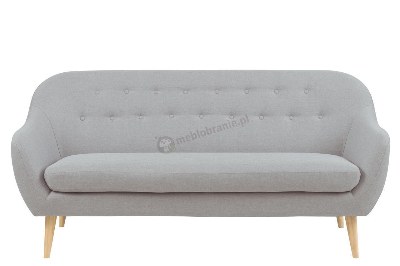 Designerska sofa Elly jasnoszara