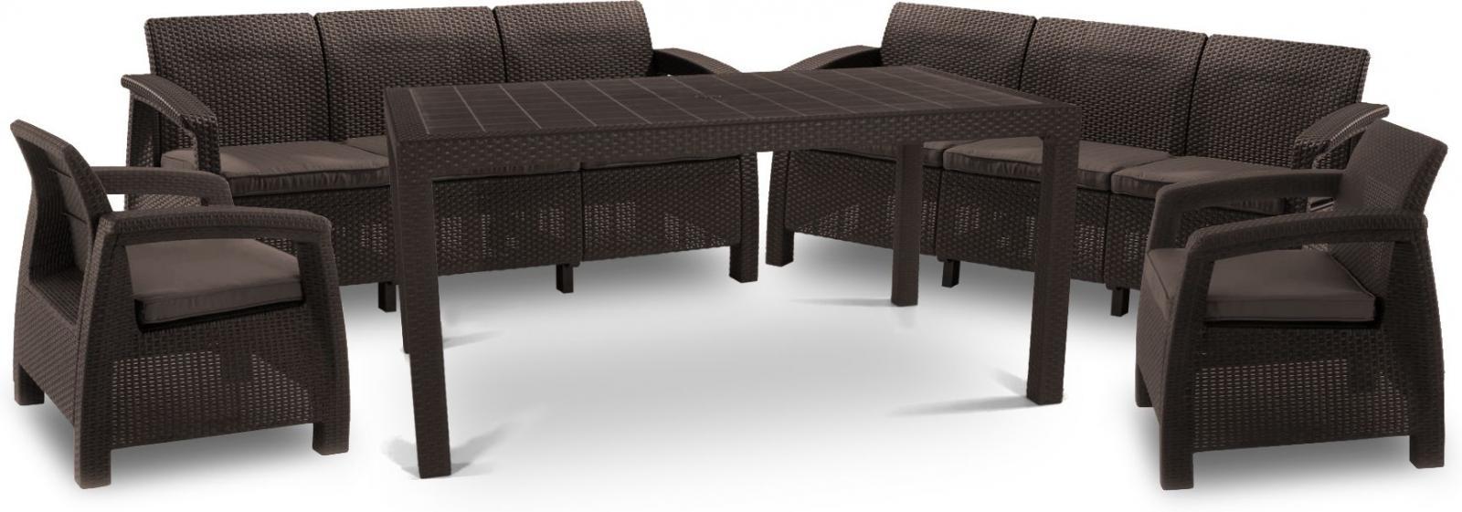 stół ogrodowy brązowy corfu krzesła
