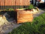Donica ogrodowa wykonana z drewna 34 cm opinie