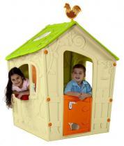 Domek dla dzieci Magic Playhouse kremowy-jasnozielony
