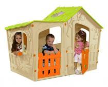 Domek dziecięcy Magic Villa kremowy-jasnozielony