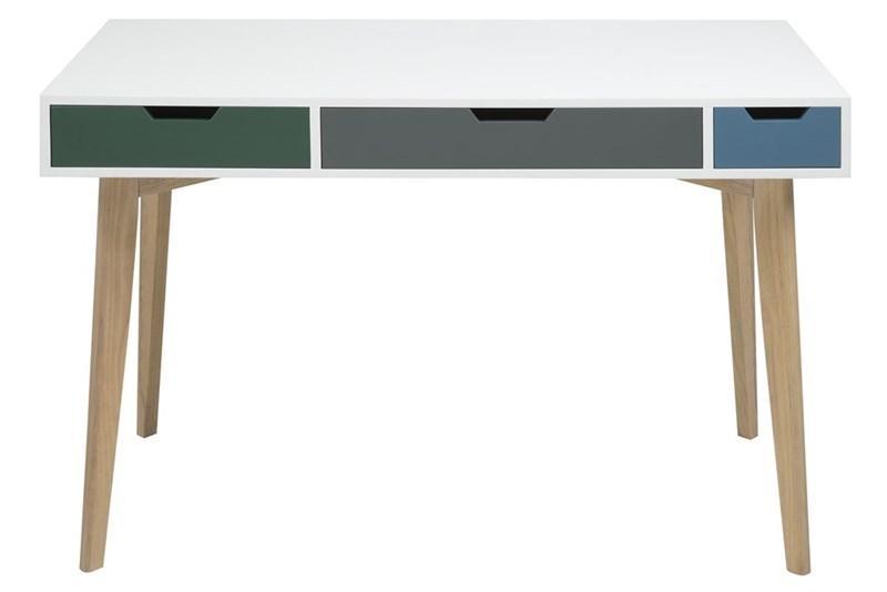 Actona Tess skandynawskie biurko z szufladami białe