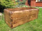 duża drewniana ozdobna Donica do ogrodu długości 90 cm opinie