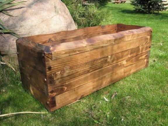 drewniana Donica ogrodowa długości 90 cm sklep internetowy