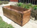 wykonana z drewna Donica ogrodowa długości 90 cm cena