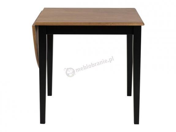 Actona Brisbane czarny stół z opuszczanym blatem