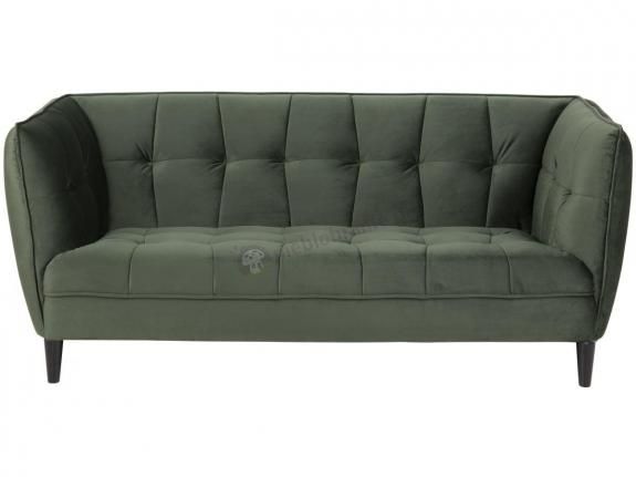 Actona Jonna stylowa sofa z aksamitu ciemnozielona