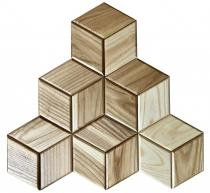 Panel 3D HEXAGON 18 - jesion - Natural Wood Panels