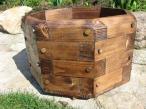 elegancka Donica ogrodowa z drewna średnica 52 cm opinie