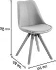 Actona Dima tapicerowane krzesło ciemnozielony welur