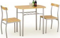 Zestaw stół + 2 krzesła w kolorze olcha Lance Halmar