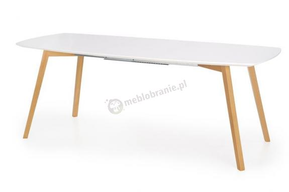 Rozkładany stół do jadalni Kajetan biały blat 150-200cm