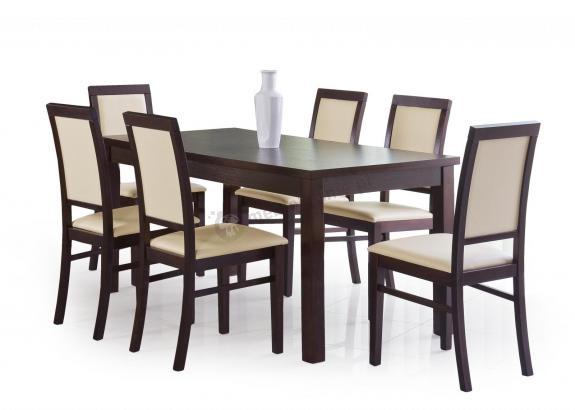 Duży stół do jadalni Ernest 160-200cm ciemny orzech
