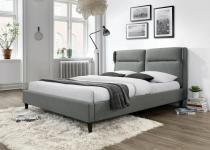 Szare tapicerowane łóżko Santino 160cm Halmar