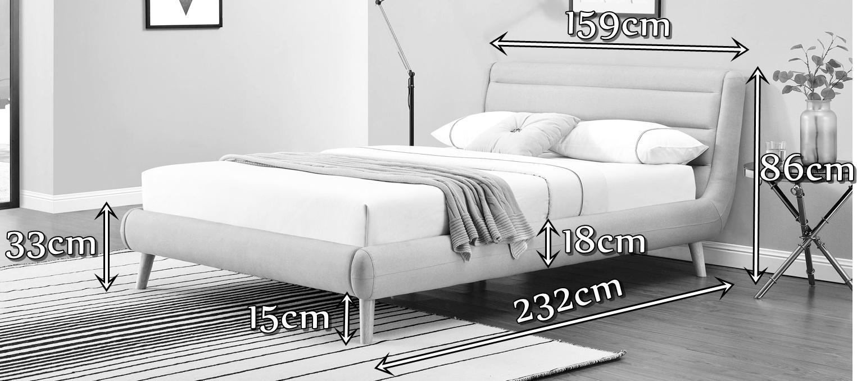Łóżko Elanda Halmar wymiary