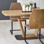 Rozkładany dębowy stół  Blacky aranżacja z krzesłami