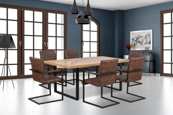 Elegancki stół na metalowych nogach Torres Halmar 160cm