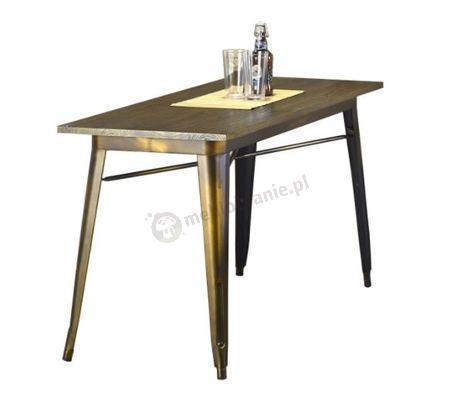 Stół z metalowymi nogami Magnum 120cm yellow cooper