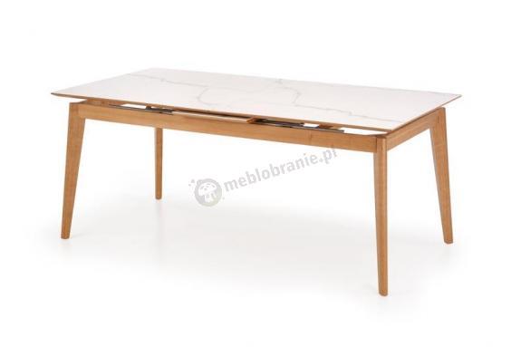 Rozkładany stół z białym blatem Montreal złożony