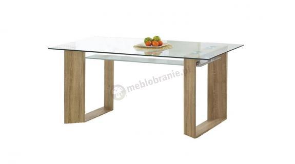 Elegancki stół ze szklanym blatem Herbert Halmar 160cm